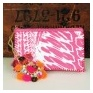 Printed Zip Clutch Pink