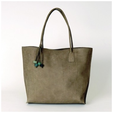 Moroccan Grey Leather Tote