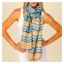 Tussar Striped Scarf