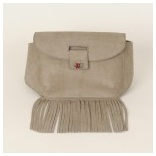 Moroccan Grey Leather Fanny Pack